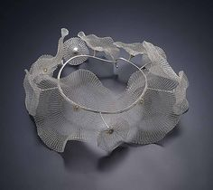 Art Jewelry, Sowon Joo, Artist, Blooming, 2011, sterling sivler, 11 x 9 x 3.5 in. photo: Munch Studio