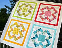 X Marks the Spot baby quilt tutorial by sewcraftyjess, via Flickr