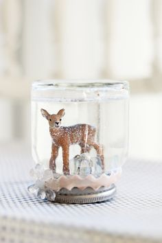 Handmade jar snow globe- by Fryd