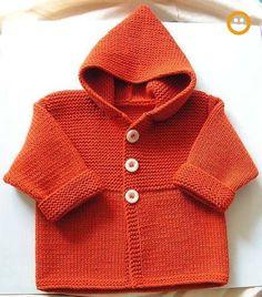 New knitting baby cardigan pattern bebe Ideas Baby Boy Knitting Patterns, Baby Cardigan Knitting Pattern, Knitting For Kids, Baby Patterns, Baby Boy Cardigan, Cardigan Bebe, Knitted Baby Cardigan, Hooded Cardigan, Baby Coat