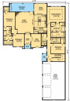 Everything on One Level - 56331SM | Acadian, European, French Country, Photo Gallery, 1st Floor Master Suite, Bonus Room, Butler Walk-in Pantry, Den-Office-Library-Study, Jack & Jill Bath, PDF, Corner Lot | Architectural Designs