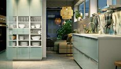 Einbauschränke für die Küche, in weiß