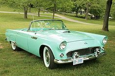 Someday. Ford Thunderbird. 1956, please. The pinnacle of sports car design. If you try to argue about Corvettes or Ferrari, LA LA LA LA can't hear you.