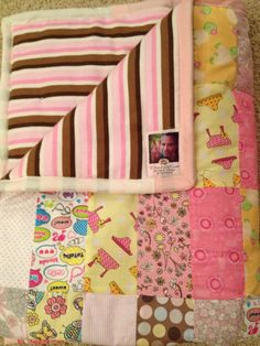 Toddler Girl Patchwork Quilt on Etsy, $48.00