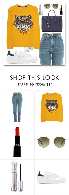 """""""Sin título #765"""" by itgirlcarlota ❤ liked on Polyvore featuring Topshop, Kenzo, Giorgio Armani, Ray-Ban, tarte, adidas Originals, Yves Saint Laurent and CoffeeDate"""