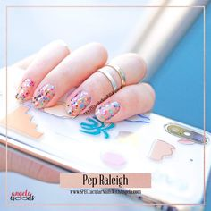 This awesome clear multicolored glitter overlay is Pep Raleigh from Color Street's new summer fun line! Clear glitter overlay in minutes over any polish at all! Summer Nail Polish, Dry Nail Polish, Nail Polish Strips, Summer Nails, Shops, Nail Length, Glam Nails, Bling Nails, Glitter Nail Art