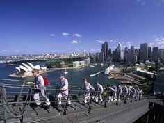 "After watching Oprah, ""Kate+8"", and ""Little People, Big World"", I want to climb the Sydney Harbour Bridge!!"