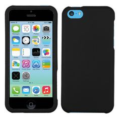 MYBAT Solid Protector Hard Cover Case for iPhone 5C - Rubberized Black