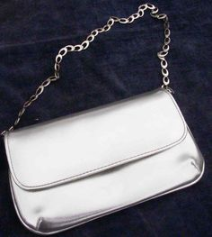 Vintage silver evening bag vintage wedding bag circa by BoxV