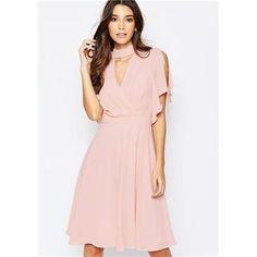 ad5fe1a7be57 Jemně růžové šifónové šaty HUSH HUSH velký Róby