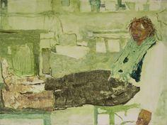 "Jennifer Packer, Let Me Not  oil on canvas  2013  16"" x 12"""
