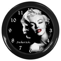 Personalised Marylin Monroe Vintage Wall Clock Nursery by KusCase, $16.55