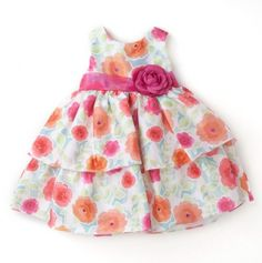 Spring Flowers Dress for Baby.