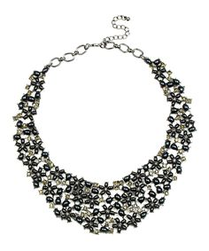 Look what I found on #zulily! Black Floral Hail Necklace by Eye Candy LA