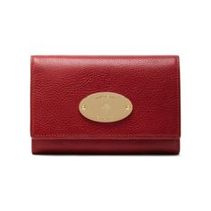 French Purse in Poppy Red Natural Leather   Women   Mulberry Mulberry  Purse, Wallets For dad7d68534
