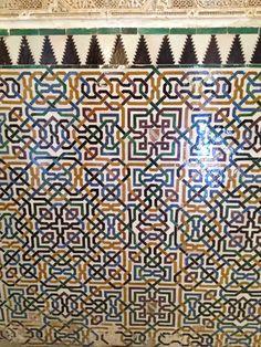 Alhambra Granada wall tiles - pretty colors
