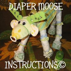 Items similar to DIY Diaper moose instructions. Learn to make Morty the Moose from diapers and such. baby gift keepsake personalize it on Etsy Diaper Crafts, Baby Crafts, Baby Shower Diapers, Baby Shower Gifts, Moose Baby Shower, Keepsake Baby Gifts, Baby Shower Gender Reveal, Future Baby, Baby Love