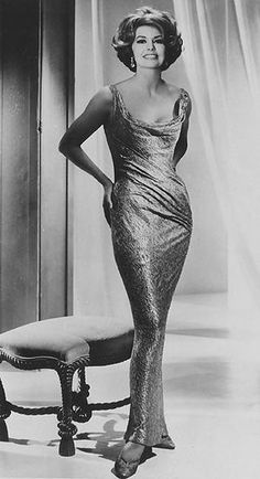 """Stunning …Cyd Charisse - a vision in gold lame for """"Two Weeks In Another Town""""  in 1962."""
