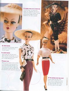 featured story Barbie Bazaar magazine about Joshard Originals dolls and retro outfits for Barbie & Silkstone Barbie....story & photo credits to Ernesto Padró Campos Photography