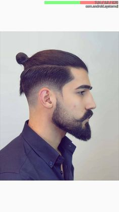 Ponytail Hairstyles For Men, Man Ponytail, Cool Hairstyles For Men, Undercut Hairstyles, Haircuts For Men, Man Bun Undercut, Man Bun Haircut, Man Bun Styles, Hair And Beard Styles