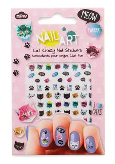 Claw-Inspiring Art Nail Stickers. Your artful manicure is the envy of your pals, thanks to these feline-approved nail stickers! #multi #modcloth