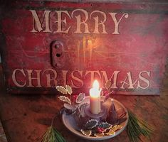 Primitive Candles, Primitive Signs, Christmas Ideas, Merry Christmas, Let Your Light Shine, Primitive Christmas, Birthday Candles, Merry Little Christmas, Wish You Merry Christmas