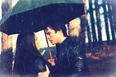 damon salvatore, elena gilbert, ian somerhalder, love, nina dobrev, rain - inspiring picture on Favim.com by luella