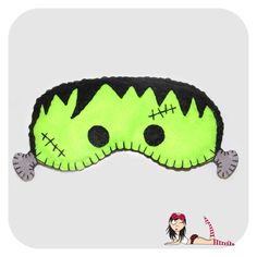 Sleep Mask Frank - Cookie Plushie Felt Patterns, Sewing Projects For Beginners, Sleep Mask, Hama Beads, Camilla, Plushies, Make You Smile, Diy Clothes, Sewing Crafts