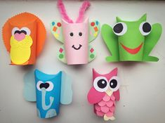 DIY toilet paper roll craft lion, butterfly, frog, elephant and owl. Upcycling! Really nice and easy to do with your kids on a rainy day!
