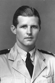 Ensign Joseph P. Kennedy Jr., United States Navy, circa 1942. August 12, 1944 - Joseph Kennedy Jr, the elder brother of JFK, is killed when his bomber aircraft explodes over Suffolk during the Second World War.