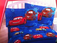 "Disney Pixar Cars Full Sheet Set by Disney. $27.90. 2 Standard Pillowcases (20"" X 30""). 1 Full Fitted Sheet (54"" X 75""). 60% Cotton/ 40% Polyester. 1 Full Flat Sheet (81"" X 96""). Disney Pixar Cars Full Sheet Set. This Disney Pixar Full Sheet set is a must have for the Disney Cars lover in your family. Featuring Lightning McQueen and Mater this is a wonderful addition to your child's room."