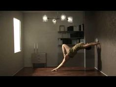 Weightless by Erika Janunger. A short dance/architectural movie, about defying gravity.  In bedroom Malin Stattin  In livingroom Tuva Lundkvist