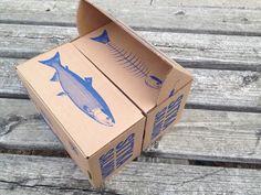 Sitka Salmon Box by Ryan Herrmann, via Behance Cool Packaging, Luxury Packaging, Food Packaging Design, Packaging Design Inspiration, Brand Packaging, Branding Design, Identity Branding, Corporate Design, Visual Identity