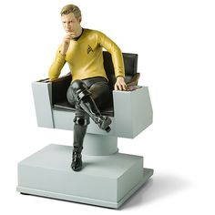 Star Trek Captain Kirk Bookend (33 RON) found on Polyvore featuring home, home decor, small item storage, book ends, star trek home decor and book-end
