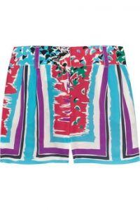 Alberta Ferretti Printed silk shorts $165