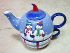 Christmas Decoration Hand Painted Ceramic Tea-for-One Set