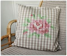 Stamped cross stitches