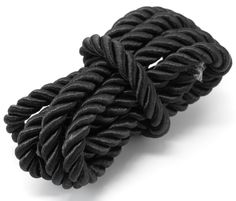 Nylon Black Rope 58in/147.3cm - This chunky nylon rope is fantastic for adding a bold feature to nautical themed bracelets and sailor's knot designs. Nylon rope is also great for a range of craft projects and adding special details to home d [$4.99]