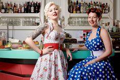Retro 50's style dresses. #Retro #dresses #50's #strawberries #polka dots