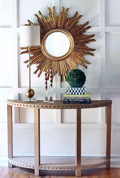 "35.5"" GOLD SUNBURST STARBURST MIRROR ANTIQUE MID CENTURY HOLLYWOOD REGENCY NEW #Doesnotapply #Contemporary"