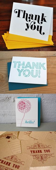 You too, can produce thank you notes that would make your grandparents proud.