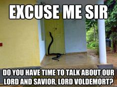 Ha! Though I would probably panic if I opened the door or walked to the house and saw this.