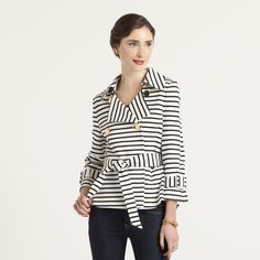 Striped Bow Jacket
