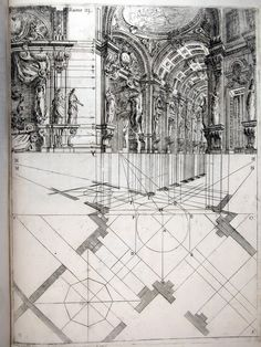 Ferdinando Galli de Bibiena, stage design showing a scena par angolo, 1711   —via lifesansbldgs