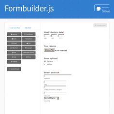 Formbuilder.js - http://dobtco.github.io/formbuilder/