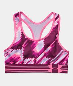 Girls' UA HeatGear® Armour Printed Sports Bra | Under Armour CL