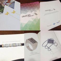 Preview Design de Joias e Bijuterias 2015.__ Joias VIKX - *Borboleta Veneziana, *Pulseira masculina Código Morse, *Anel e *Bracelete QR.VIKX. #Preview2015 #VIKX #Joias #Design #Contemporary