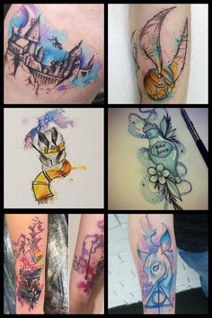 Ankle Tattoo Small, Ankle Tattoos, Body Art Tattoos, Small Tattoos, Sleeve Tattoos, Cat Tattoos, Tiny Tattoo, Harry Potter Sketch, Harry Potter Disney