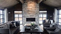 Relatert bilde Mountain Cottage, Brick Design, Picture Design, Living Room Inspiration, My Dream Home, Future House, Architecture Design, Sweet Home, House Design