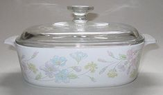 Vtg Corning Ware 'Pastel Bouquet' (1.5 Qt) Casserole Baking Dish with Lid (A-1.5-B) >>> Discover this special product, click the image : Bakers and Casseroles